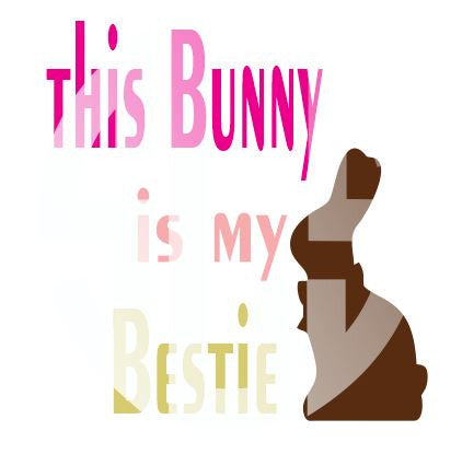 This Bunny Is My Bestie SVG SVG DXF PDF JPG JPEG VECTOR Graphic Design Digital Cutting File Instant Download Cameo Silhouette Cricut