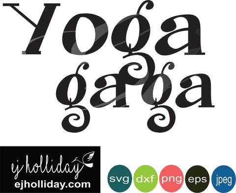 Yoga gaga svg eps jpeg jpg png dxf Graphic Design Digital Cutting File Instant Download Cameo Silhouette Cricut