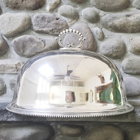 Huge Antique 1900 English Silver Plate Dome Awarded for Best Clydesdale Horse
