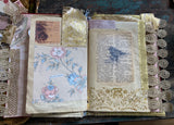 Vintage Spring Inspired Junk Journal Handmade 28 Pages Ready To Use