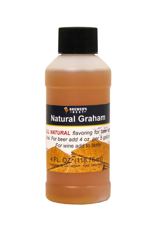 Natural Graham Flavoring Extract 4 oz