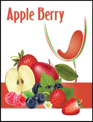 Apple Berry Wine Labels - 30/Pack