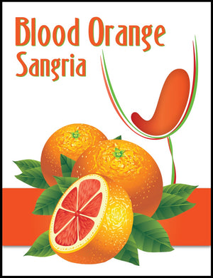 Blood Orange Sangria Wine Labels - 30/Pack