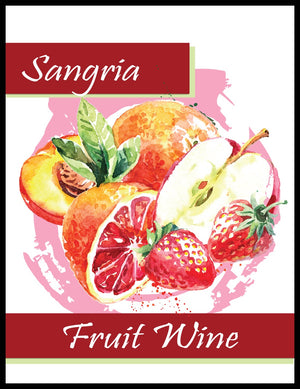 Sangria Fruit Wine Labels - 30/Pack