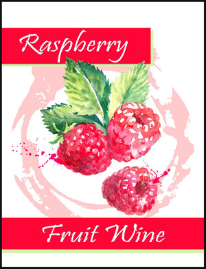 Raspberry Fruit Wine Labels - 30/Pack