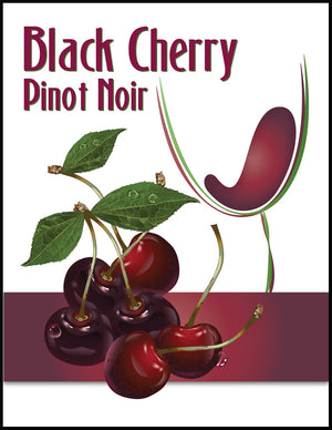 Black Cherry Pinot Noir Wine Labels - 30/Pack