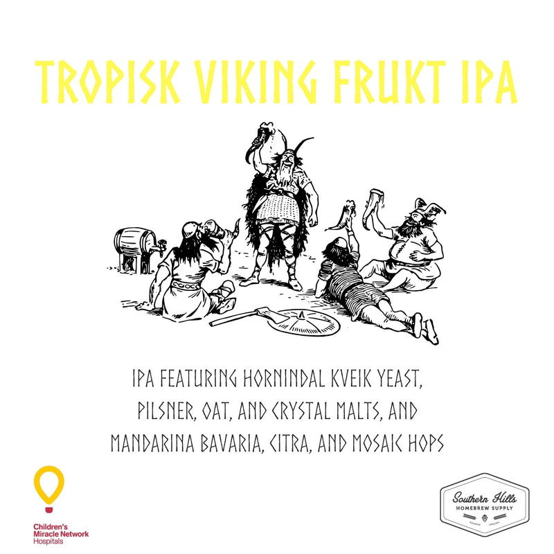 Tropisk Viking Frukt IPA 5 Gallon Extract Recipe Kit
