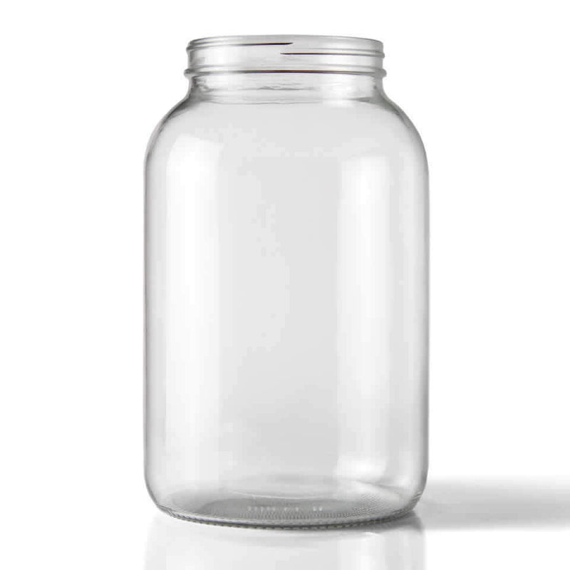 Clear Wide Mouth One Gallon Jug