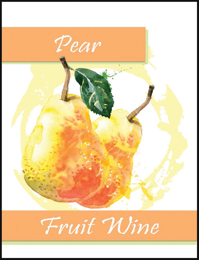 Pear Fruit Wine Labels - 30/Pack