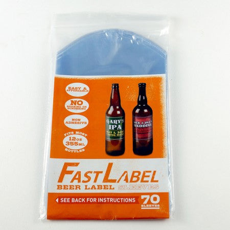 Fastlabel 12oz Beer Labels - 70 Sleeves