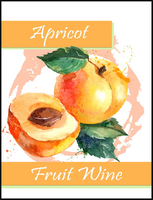Apricot Fruit Wine Labels - 30/Pack