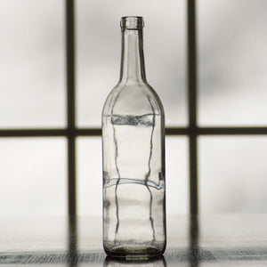 Clear Bordeaux Flat Bottom Bottles (750 mL) - Single