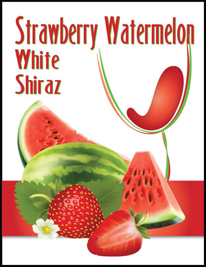 Strawberry Watermelon White Shiraz Wine Labels - 30/Pack