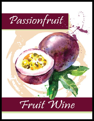 Passionfruit Fruit Wine Labels - 30/Pack