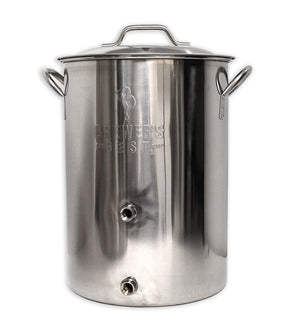 8 Gallon Brewer's Best Basic Brewing Kettle with Two Ports