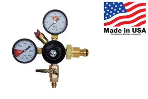 Primary Dual Gauge Nitrogen Regulator with MFL Check Valve Shutoff