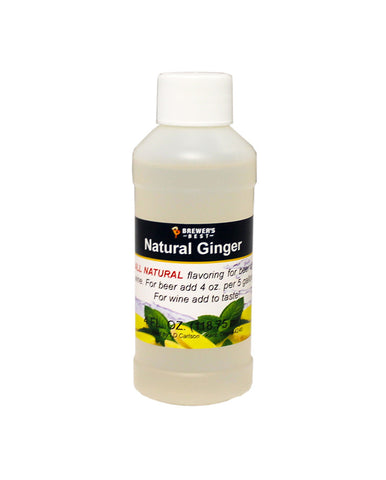 Natural Ginger Flavoring Extract 4 oz