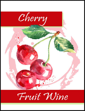 Cherry Fruit Wine Labels - 30/Pack