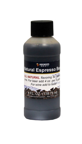 Natural Espresso Bean Flavoring Extract 4 Oz