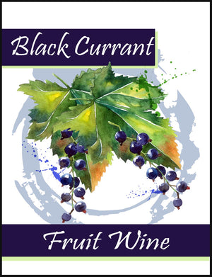 Black Currant Fruit Wine Labels - 30/Pack