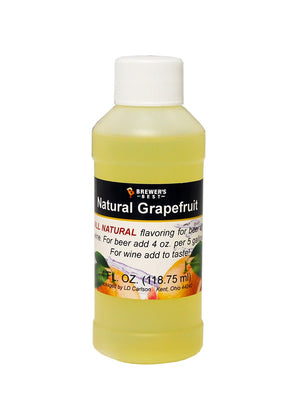 Natural Grapefruit Flavoring Extract 4 oz