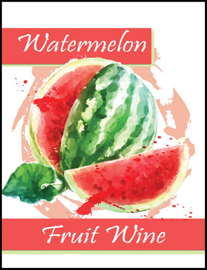 Watermelon Fruit Wine Labels - 30/Pack