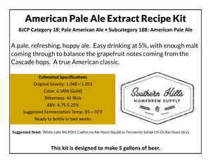 American Pale Ale 5 Gallon Extract Recipe Kit