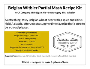 Belgian Witbier 5 Gallon Partial Mash Recipe Kit