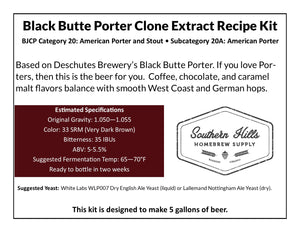 Black Butte Porter Clone 5 Gallon Extract Recipe Kit