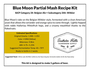 Blue Moon Clone 5 Gallon Partial Mash Recipe Kit