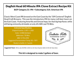 Dogfish Head 60 Minute IPA Clone 5 Gallon Extract Recipe Kit