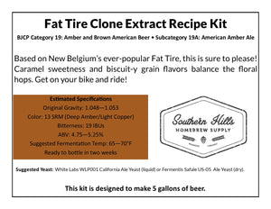 Fat Tire Clone 5 Gallon Extract Recipe Kit
