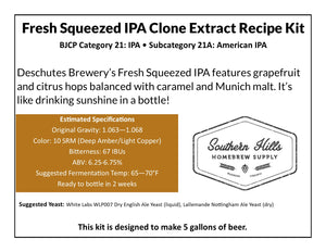 Fresh Squeezed IPA Clone 5 Gallon Extract Recipe Kit