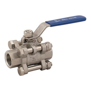 "Stainless Ball Valve - 1/2"" - 3 Piece"