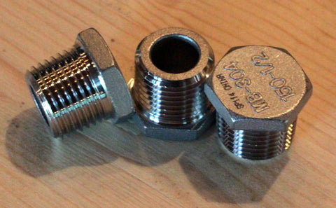 "1/2"" Stainless Steel Hex Plug"