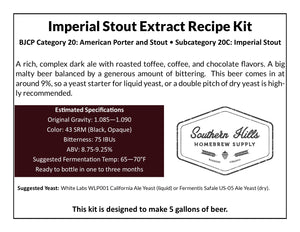 Imperial Stout 5 Gallon Extract Recipe Kit