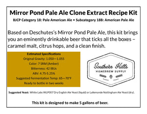 Mirror Pond Pale Ale Clone 5 Gallon Extract Recipe Kit