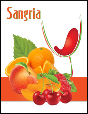 Sangria Wine Labels - 30/Pack