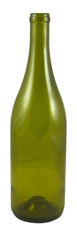 Dead Leaf Green Burgundy Style Bottles - Punted (750ML) - Single