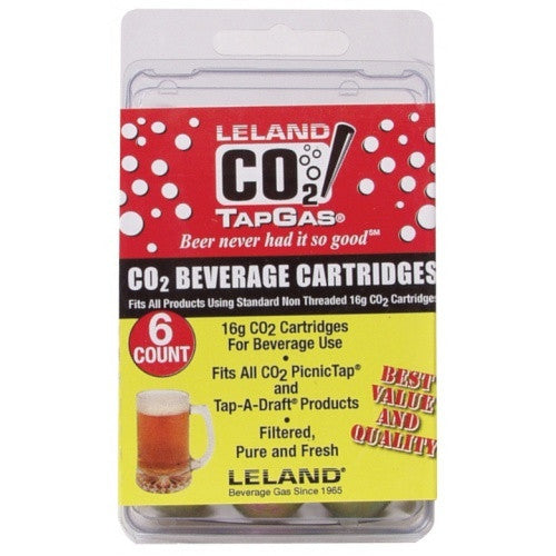 16 gram Refill Cartridge for Corny Keg Charger - 6 Pack