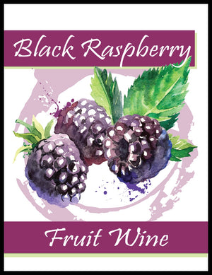 Black Raspberry Fruit Wine Labels - 30/Pack