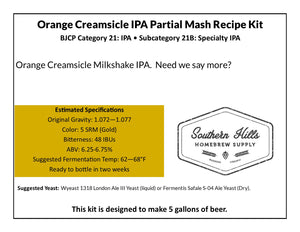 Orange Creamsicle IPA Partial Mash Recipe Kit