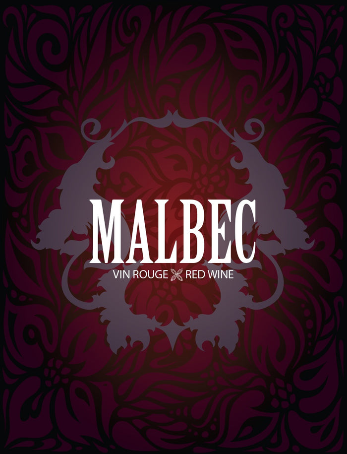 Malbec Wine Labels - 30/Pack