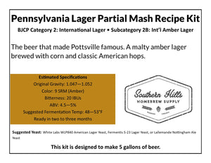 Pennsylvania Lager 5 Gallon Partial Mash Recipe Kit