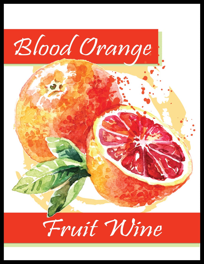 Blood Orange Fruit Wine Labels - 30/Pack