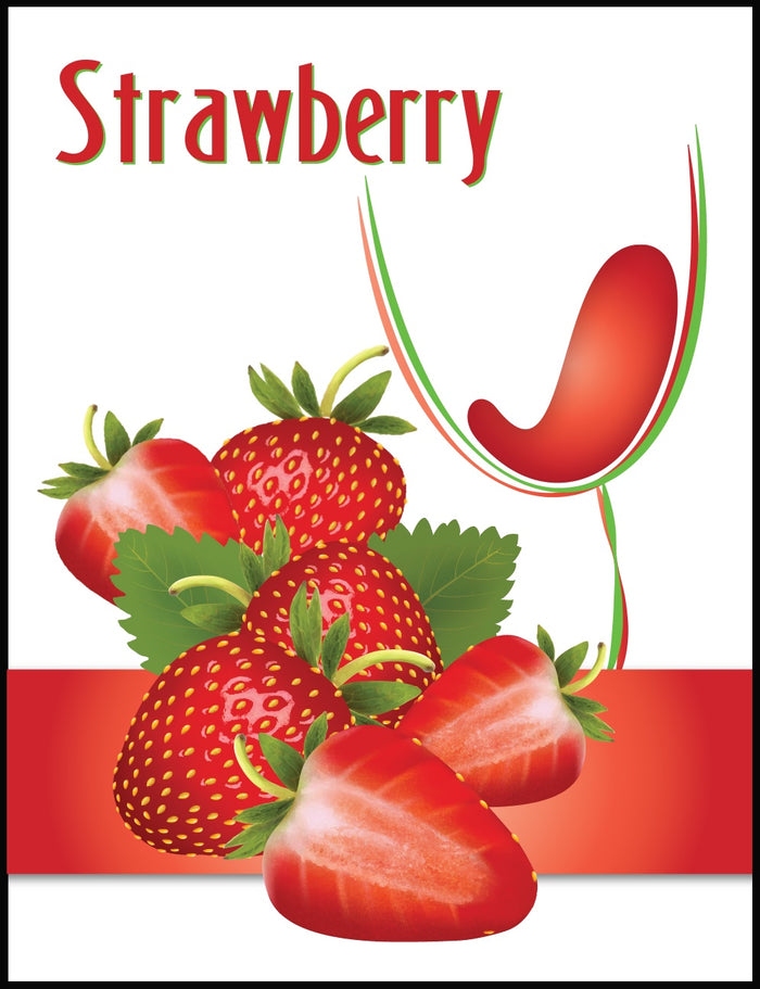 Strawberry Wine Labels - 30/Pack