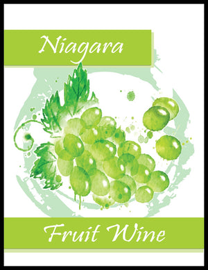 Niagara Fruit Wine Labels - 30/Pack
