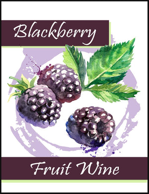 Blackberry Fruit Wine Labels - 30/Pack