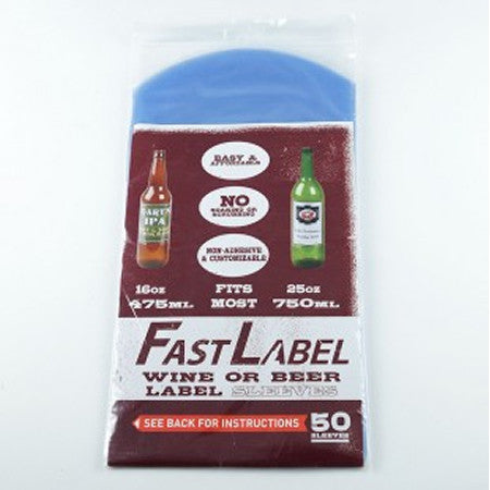 Fastlabel 16-26oz Wine/Bomber Labels - 50 Sleeves