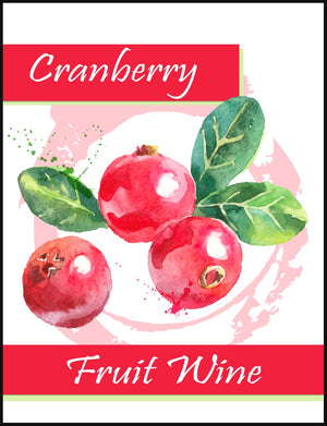 Cranberry Fruit Wine Labels - 30/Pack